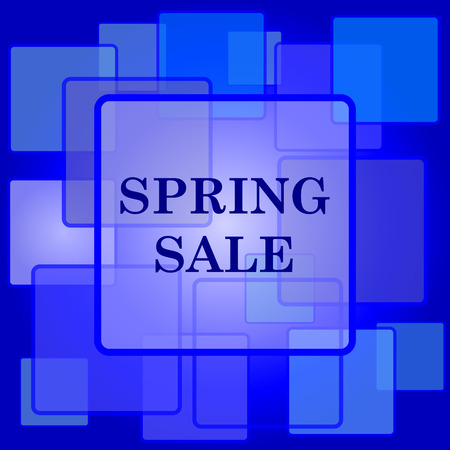 Spring sale icon. Internet button on abstract background. Vector