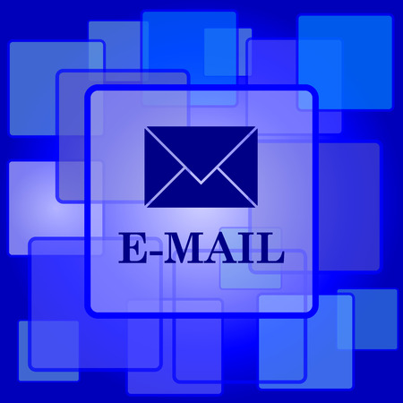 E-mail icon. Internet button on abstract background. Vector