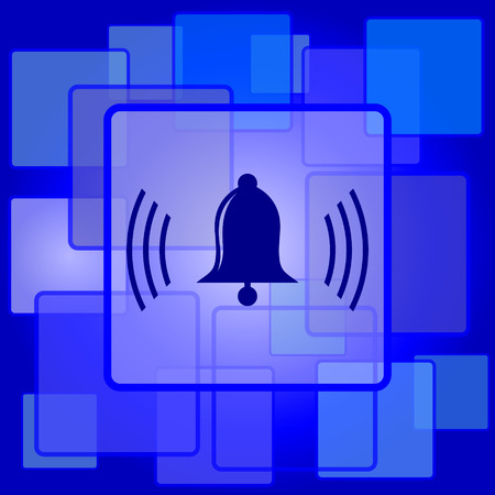 Bell icon. Internet button on abstract background. Vector
