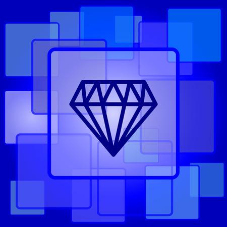 unbreakable: Diamond icon. Internet button on abstract . Illustration
