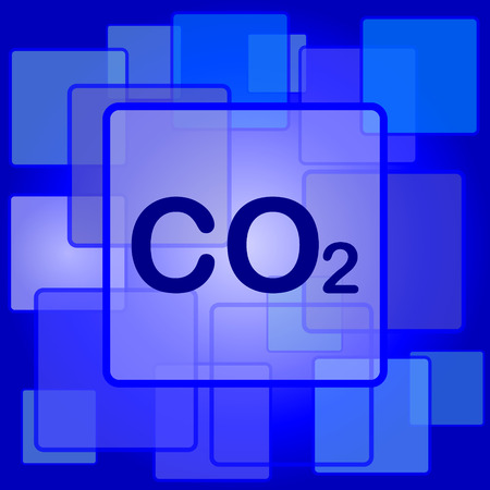 co2: CO2 icon. Internet button on abstract background. Illustration