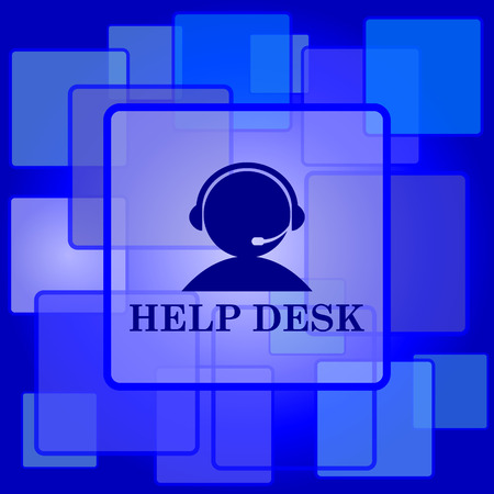 Helpdesk icon. Internet button on abstract background. Vector