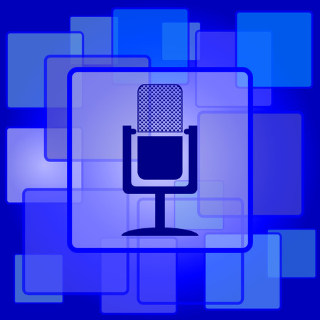 Microphone icon. Internet button on abstract background. Vector