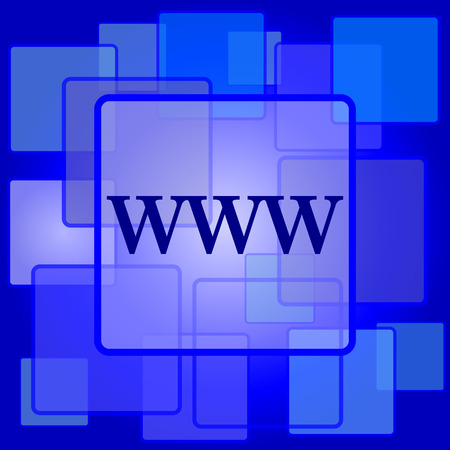www icon: WWW icon. Internet button on abstract background. Illustration