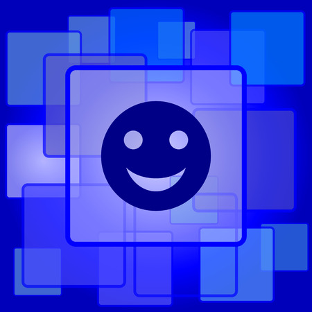 smily: Smiley icon. Internet button on abstract background. Illustration