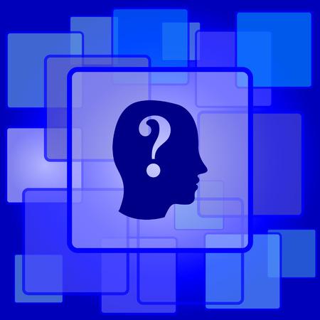 kwis: Quiz icoon. Internet-knop op abstracte achtergrond.