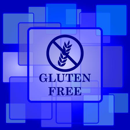 preservatives: Gluten free ic�nico. Bot�n de internet sobre fondo abstracto. Vectores