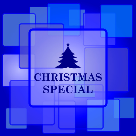 Christmas special icon. Internet button on abstract background. Vector
