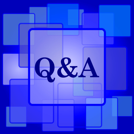 Q&A icon. Internet button on abstract background. Vector