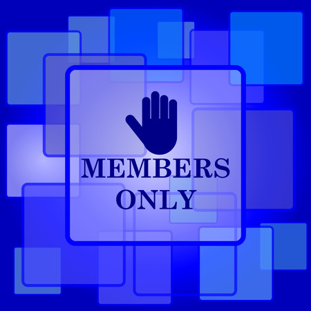 Members only icon. Internet button on abstract background. Vector
