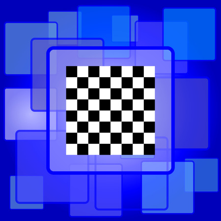 finish flag: Finish flag icon. Internet button on abstract background.