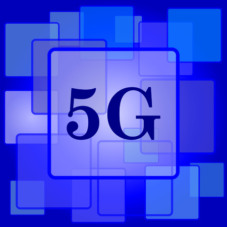 5g: 5G icon. Internet button on abstract background.