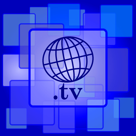 .tv icon. Internet button on abstract background. Vector