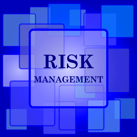risk management: Risk management icon. Internet button on abstract background.