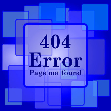 404 error icon. Internet button on abstract background. Vector