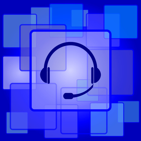 ear phones: Headphones icon. Internet button on abstract background. Illustration