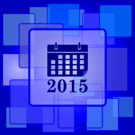2015 calendar icon. Internet button on abstract background. Vector