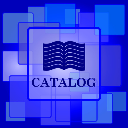 catalog: Catalogus icoon. Internet-knop op abstracte achtergrond.