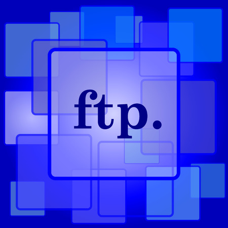 ftp: ftp. icon. Internet button on abstract background.