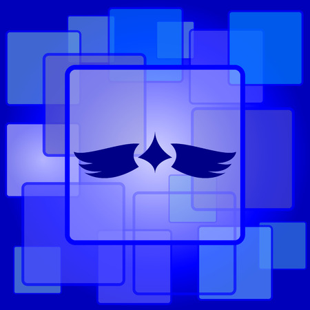 chastity: Wings icon. Internet button on abstract background.
