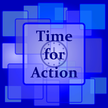 действие: Время значок действия. Кнопка Интернет на абстрактном фоне.