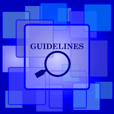 guidelines: Guidelines icon. Internet button on abstract background.