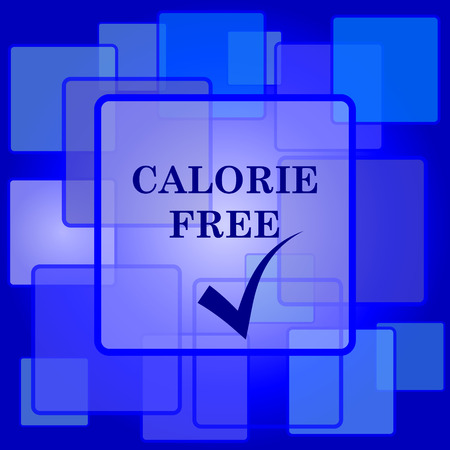 calorie: Calorie free icon. Internet button on abstract background.