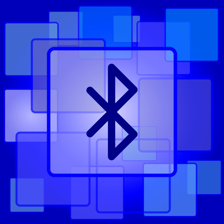 bluetooth: Bluetooth icon. Internet button on abstract background. Illustration
