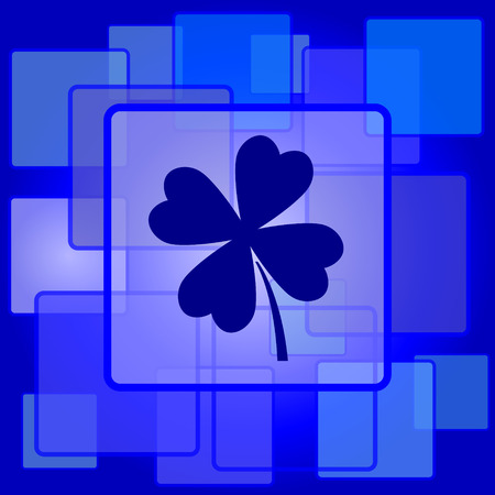 clover icon: Clover icon. Internet button on abstract background. Illustration