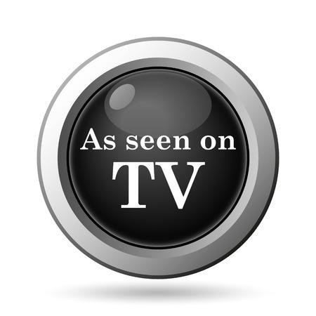 cliche: As seen on TV icon. Internet button on white background. Stock Photo