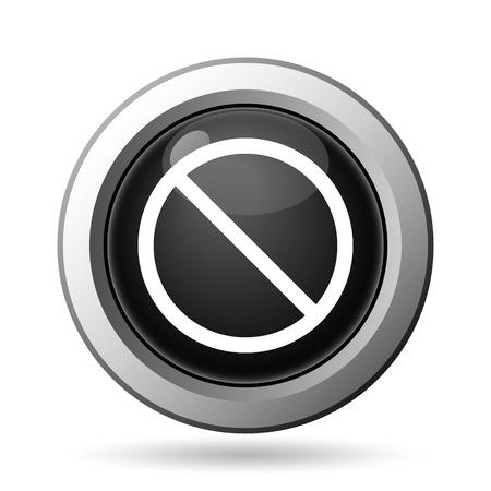 disallowed: Forbidden icon. Internet button on white background. Stock Photo