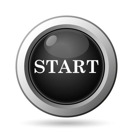 proceed: Start icon. Internet button on white background.