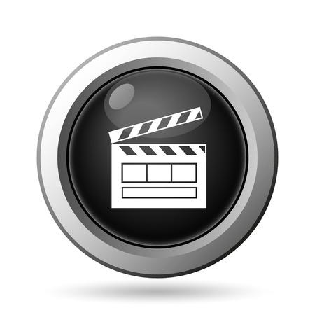 Movie icon. Internet button on white background. photo