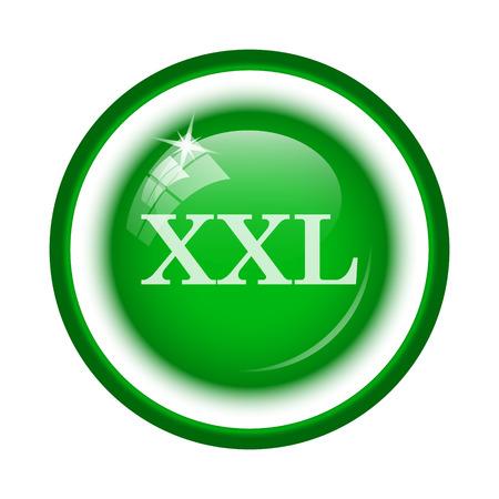 xxl: XXL  icon. Internet button on white background. Stock Photo