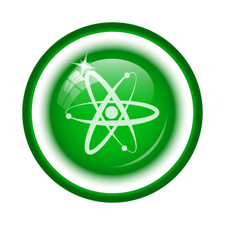 neutron: Atoms icon. Internet button on white background.