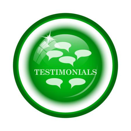 t�moignages: Testimonials icon. Internet button on white background.