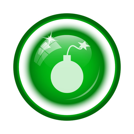 Bomb icon. Internet button on white background. photo