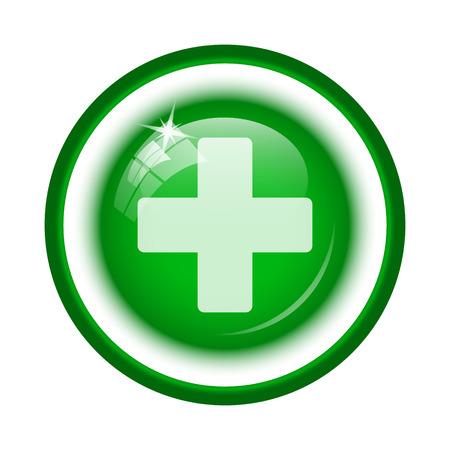 Medical cross icon. Internet button on white background. Reklamní fotografie
