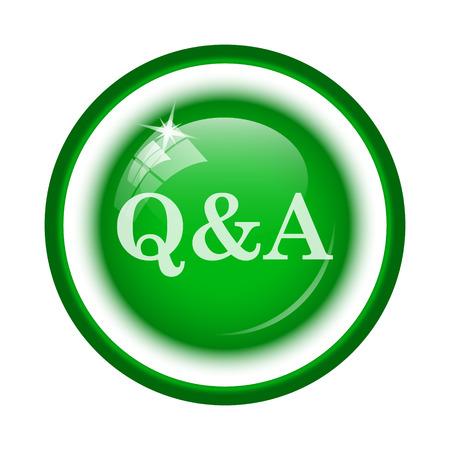 qa: Q&A icon. Internet button on white background.