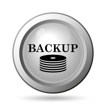 secure backup: Back-up icon. Internet button on white background.