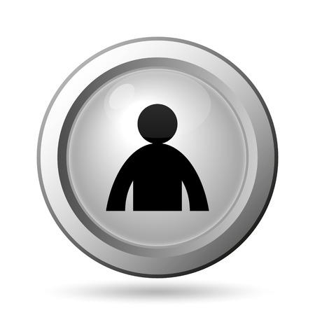 user profile: User profile icon. Internet button on white background.