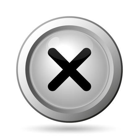 deny: X close icon. Internet button on white background.