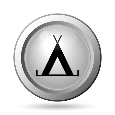 Tent icon. Internet button on white background. photo