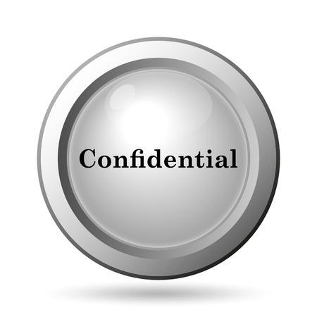 confidential: Confidential icon. Internet button on white background.