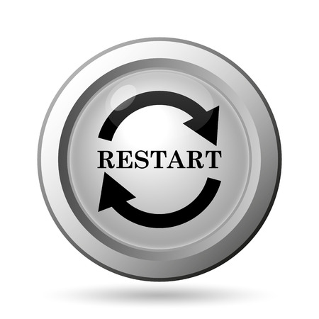 Restart icon. Internet button on white background. photo