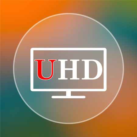 ultra: Ultra HD icon. Internet button on colored  background.