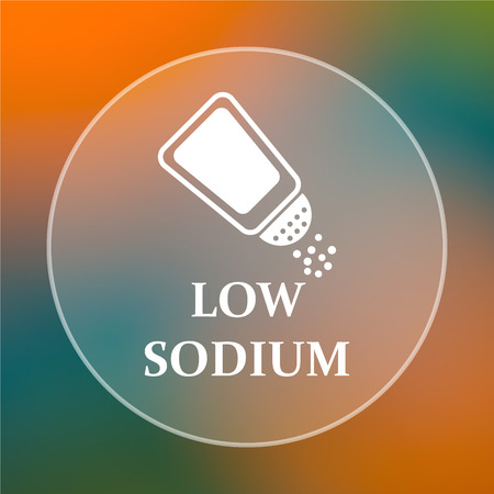 salt free: Low sodium icon. Internet button on colored  background.