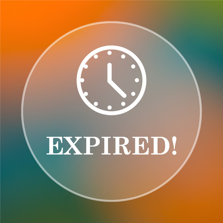 expired: Expired icon. Internet button on colored  background.