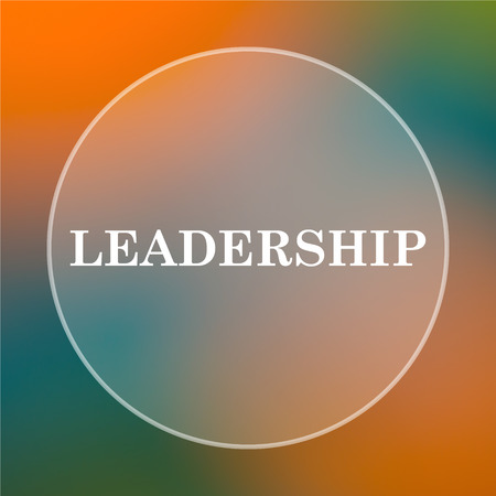 superintendence: Leadership icon. Internet button on colored  background. Stock Photo