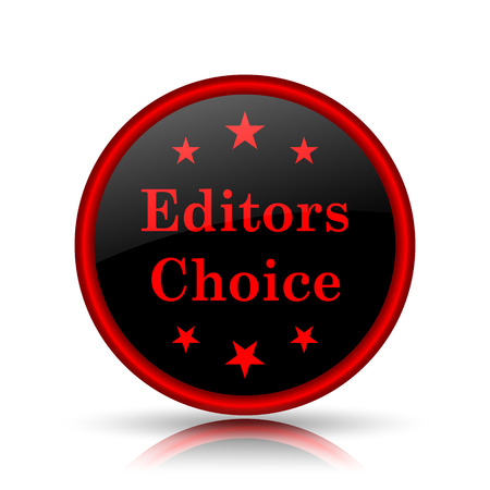 qualified: Editors choice icon. Internet button on white background.
